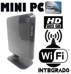 Mini PC  NetTop Atom  2GB Memória  HD 320GB