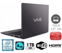 Notebook Vaio Fit Core I5   Intel  7ger HD 1 TERA