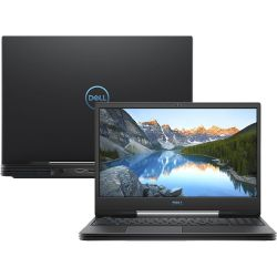 Notebook Dell G5 I5 5590 15.6'' FHD I5-9300H 1TB+128GB 8GB GTX 1650 4GB Win10 H Preto