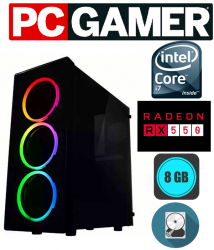 PC GAMER CORE  I7  PLACA DE VÍDEO RX 550  E 8 GB DE MEMÓRIA RAM