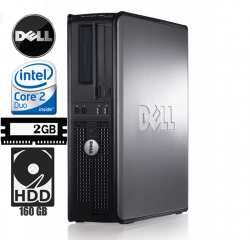 Cpu Dell 760 Optiplex Core 2 Duo 2GB e HD de 160 GB