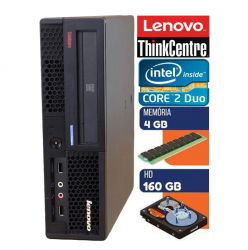 Computador Lenovo Core 2 Duo Thinkcentre  4GB Memória Hd 160gb