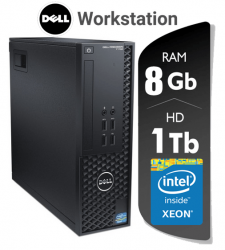 CPU Workstation Dell Precision T1700  Xeon Memória 8 Gb Ram HD 1 TERA