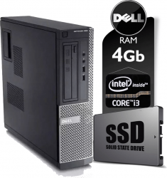 Cpu Dell Optiplex 3010 CoreI3 Memória 4 GB SSD 120 GB